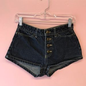 ✨ DEADSTOCK American Apparel Front Button Shorts
